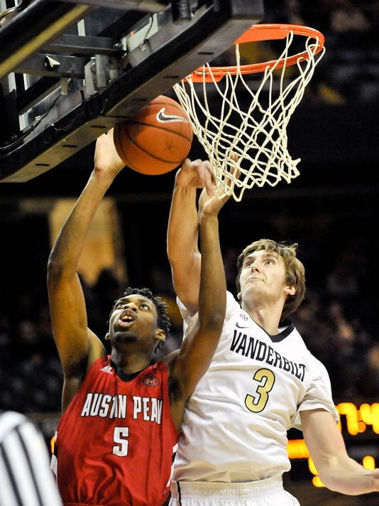 NCAA Basketball: Austin Peay at Vanderbilt