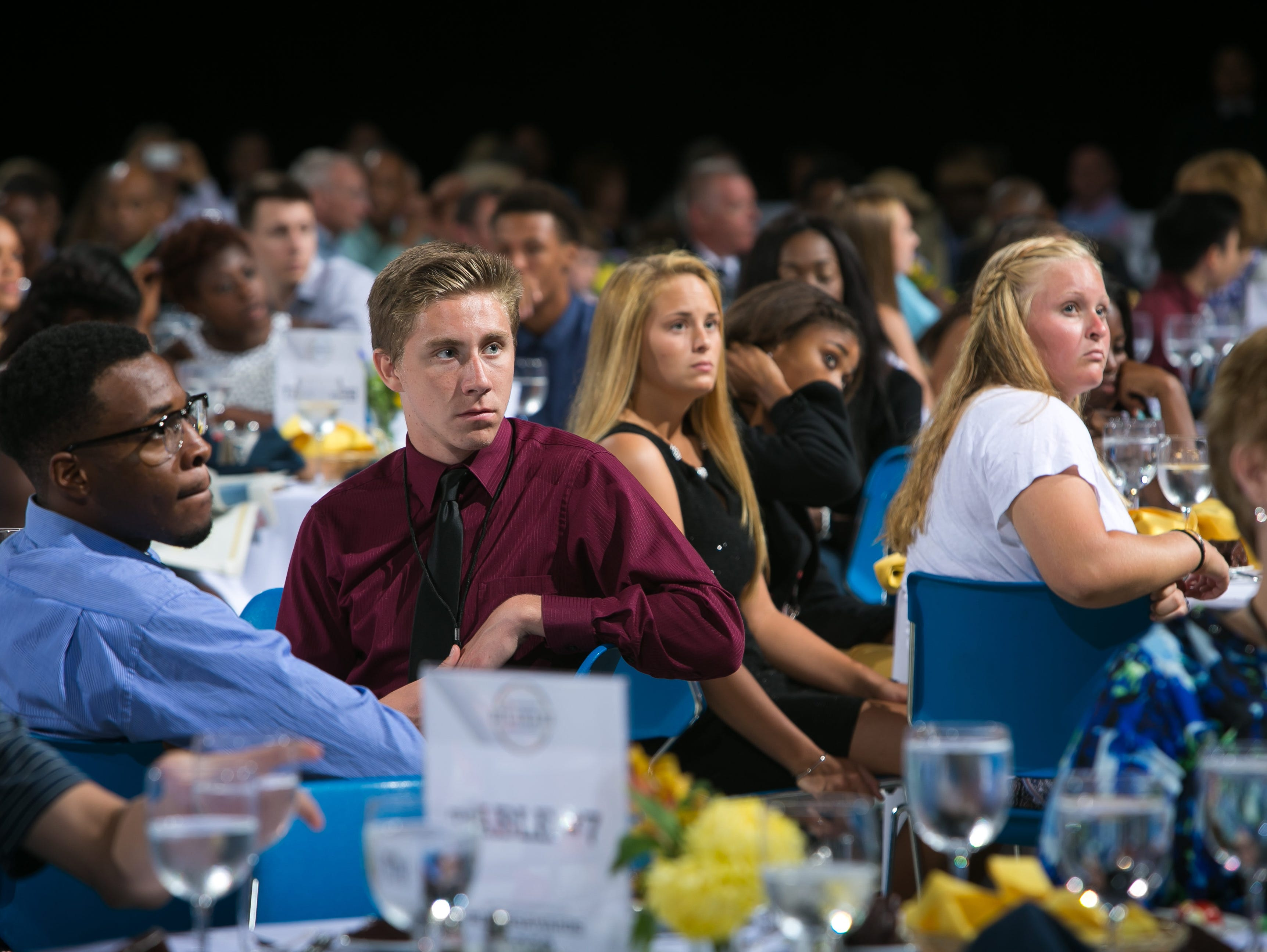 Hundreds attend the first Delaware Sports Awards held at the Bob Carpenter Center.