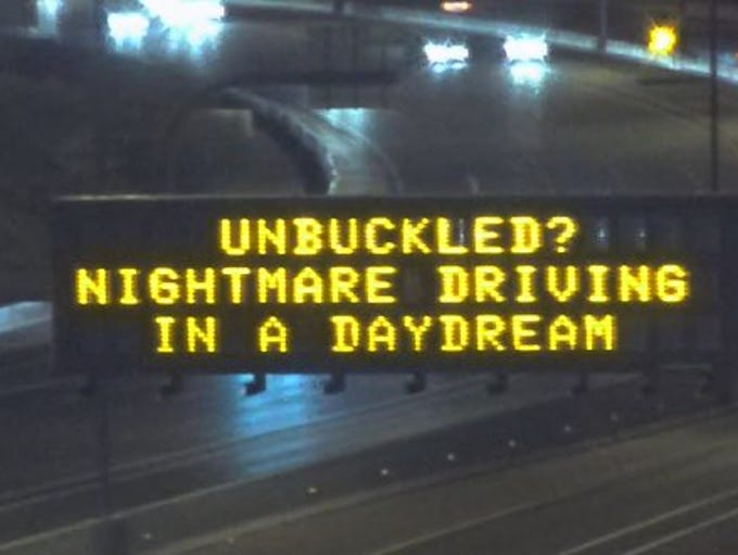 The Arizona Department of Transportation posted highway