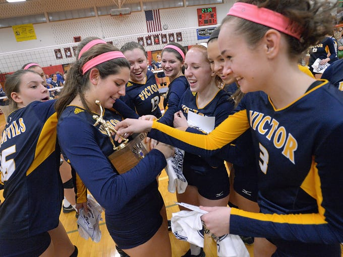 Victor girls volleyball through the years
