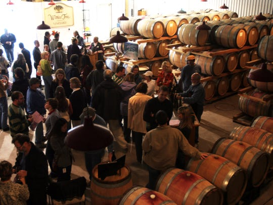 Patrons pack Witness Tree Vineyard as Thanksgiving kicks off one of the of the busiest weekends of the year for area wineries.