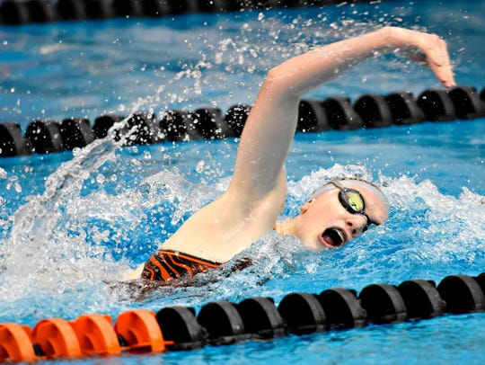 Central York's Gabby Miller is seeded sixth in the 50 freeand seventh in the 100 freefor this year's District 3 Class 3-A swim meet. YORK DISPATCH FILE PHOTO