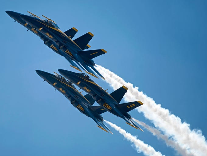 The Blue Angels, the U.S. Navy's flight demonstration