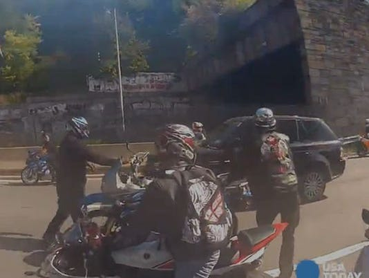 Driver's wife: Biker chase put family in 'grave danger'