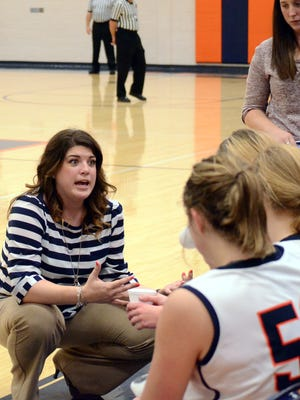 Beech head coach Kari Douglas (left) was expecting to coach the first month of the season, but will now miss the entire season as she is expecting her first child.
