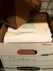 Files kept in the basement of the Bettman Nature Preserve.