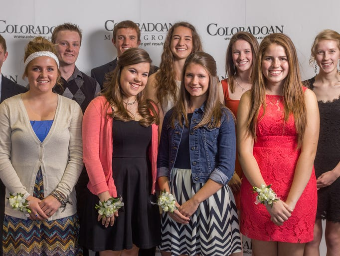 Ten winners of the the Leadership and Academic All-Stars awards are pictured at the Drake Centre on Thursday, May 1.