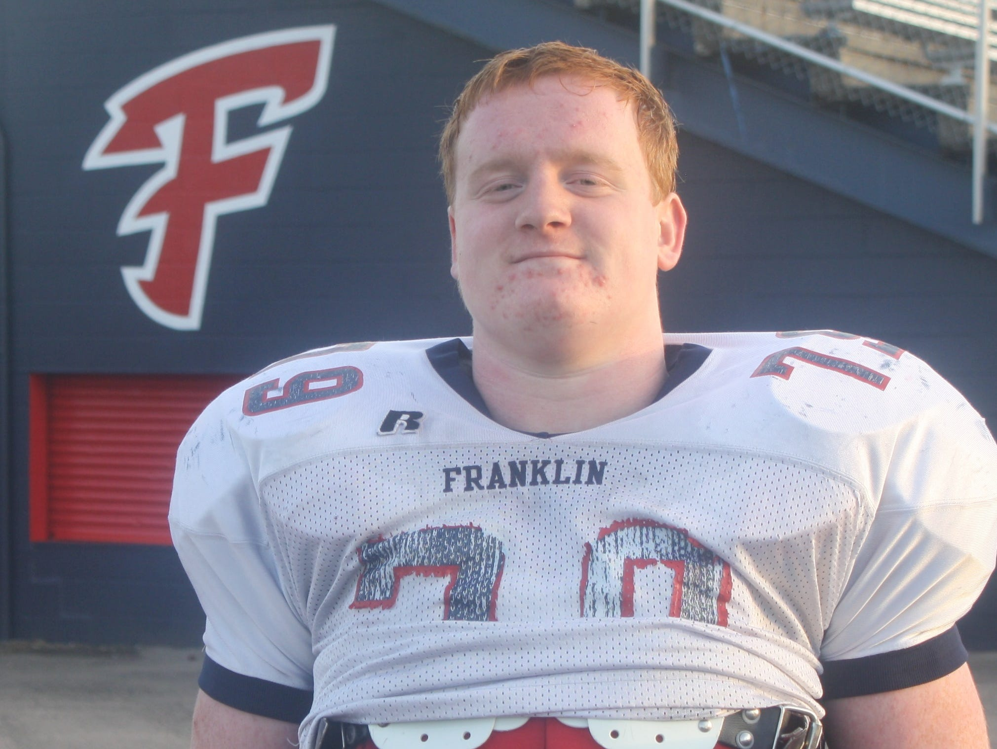 Senior defensive tackle Ryan Tracy has been one of the anchors of Livonia Franklin's much-improved defense this fall.