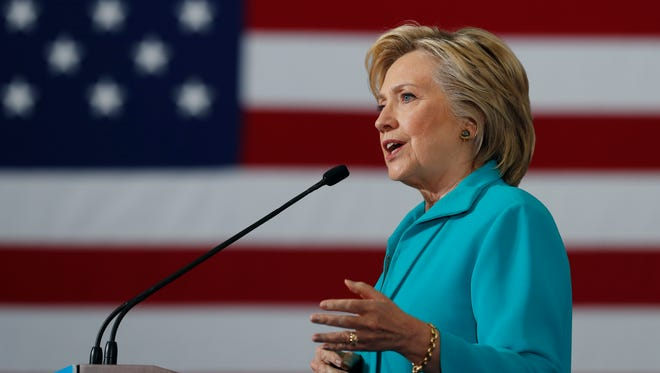 Democratic presidential candidate Hillary Clinton speaks at a campaign event at Truckee Meadows Community College, in Reno, Nev., Thursday, Aug. 25, 2016. (AP Photo/Carolyn Kaster)