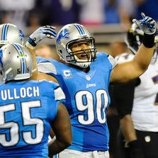 Ndamukong Suh and the Lions' defensive line look much improved in 2014.