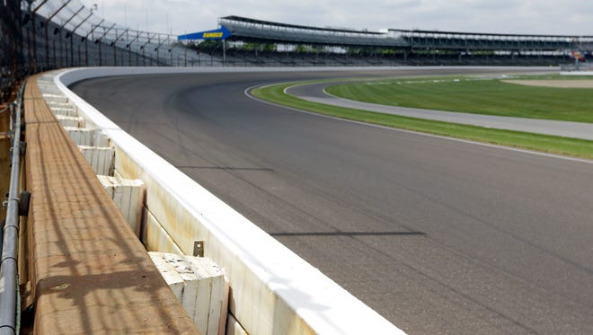 This May 21, 2015 file photo shows the SAFER barrier in the first turn at Indianapolis Motor Speedway in Indianapolis. In a survey of the 27 living winners of the Indy 500, The Associated Press found safety measures to be the race's greatest innovation. One of those measures is the SAFER barriers that are now common at racetracks and are designed to absorb much of the energy from an impact.