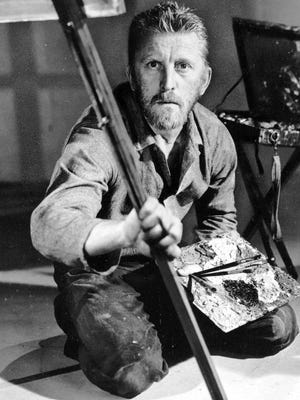 """Kirk Douglas portrays artist Vincent Van Gogh in the 1956 movie """"Lust For Life.""""  The role gained him an Academy Award nomination for best actor."""