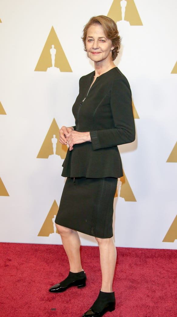 Charlotte Rampling arrives at the 88th Oscars Nominees