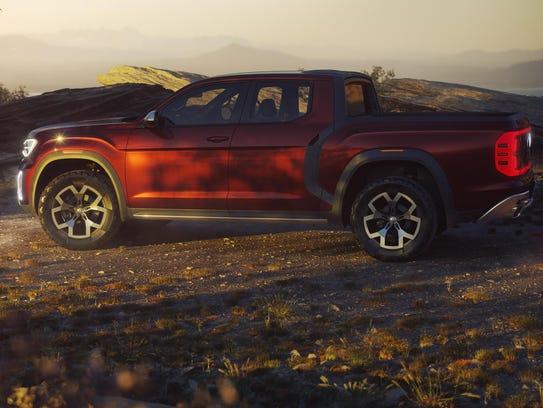 Volkswagen's Atlas Tanoak truck concept