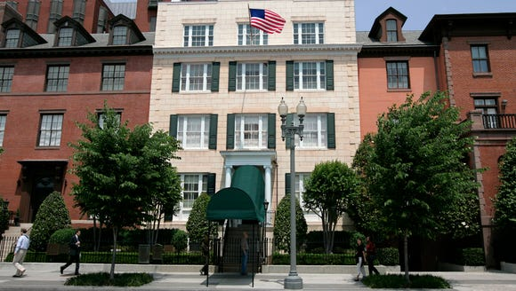 This May 23, 2007 file photo shows Blair House, the