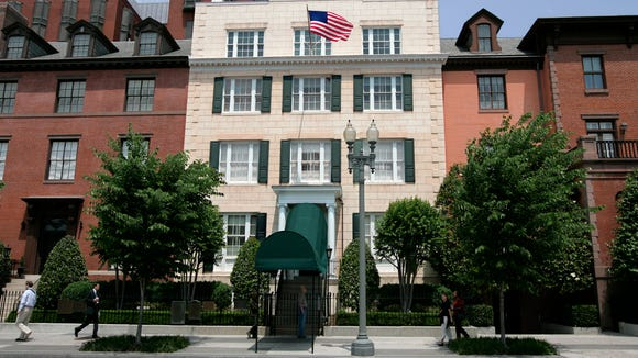 This May 23, 2007 file photo shows Blair House, the official state guest house for the president of the United States.