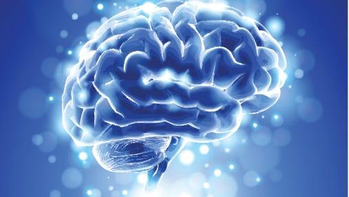 brain & blue background