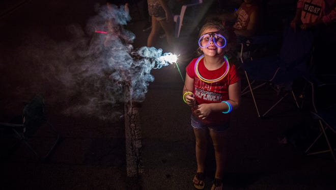 Locals gathered to watch fireworks in downtown Muncie on the Fourth of July.