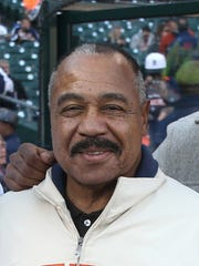 Detroit Tigers Willie Horton before the game against the Cleveland Indians on Friday, April 24, 2015 at Comerica Park in Detroit.
