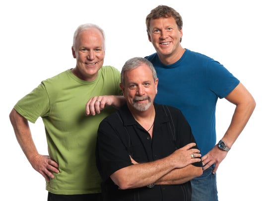From left: Bill Corbett, Kevin Murphy and Mike Nelson of RiffTrax.