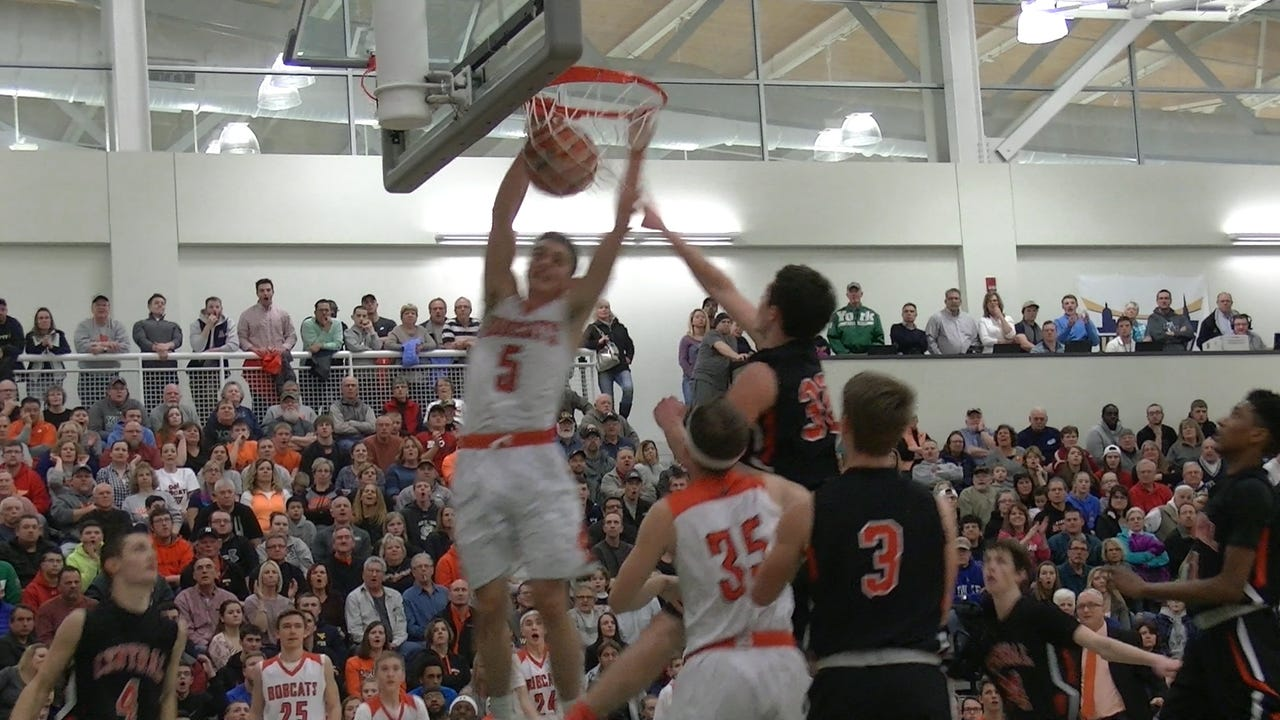 Cougar Carl Reigle puts up two early in the Palmyra