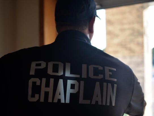 Millville police chaplain Bob Ossler at Cumberland