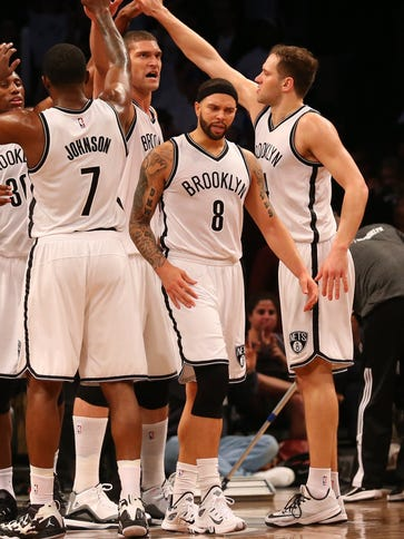 Deron Williams (8) scored 35 points in Game 4, more
