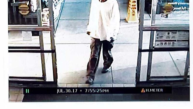 Carroll Township Police are looking for the identity of this man suspect of theft at the Giant Food Store on July 30.