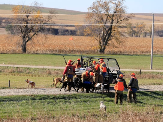 Donald Trump Jr. joins a pheasant hunting party with