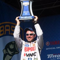 Skeet Reese, above, finished second at this weekend's Bassmaster Elite Series tournament with 59 pounds, 8 ounces over four days. Chris Zaldain finished third with 58-12.