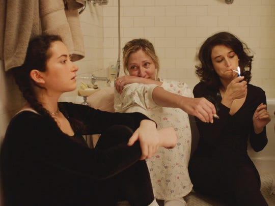 Abby Quinn (from left), Edie Falco and Jenny Slate