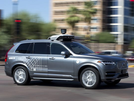 Vehículo autónomo Uber en Arizona.