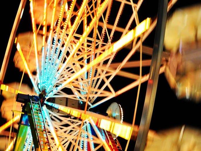 The Ferris wheel at the 2014 Oregon State Fair.