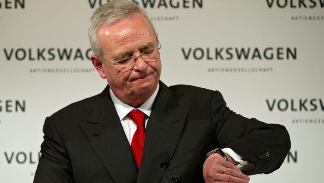 Volkswagen CEO Martin Winterkorn steps down as CEO.