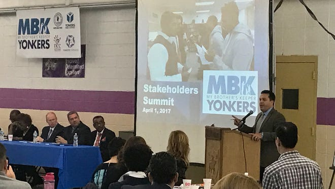 Yonkers Public Schools Superintendent Edwin Quezada addressed more than 200 students and stakeholders Saturday for the My Brother's Keeper introduction.