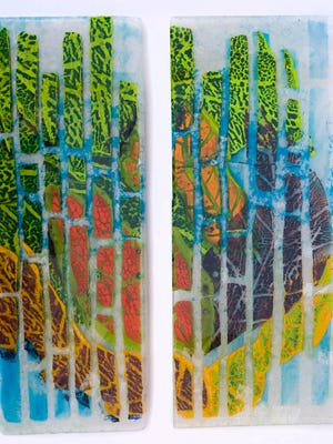 """Cheryl Sattler: 'I wanted the glass to have that feeling of Florida, full of hot colors."""""""