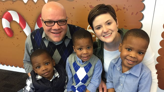 Joel and Lauren Wright visited The Children's Museum recently with their boys (from left) Sawyer, Asher and Micah.