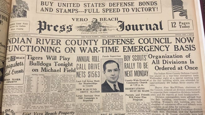 An edition of the Press Journal following the attack on Pearl Harbor, Dec. 7, 1941. This paper published Dec. 15, 1941.