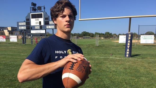 Holy Spirit senior receiver Daniel Tarsitano is motivated by his oldest brother Dominic, who calls him before every game from prison.