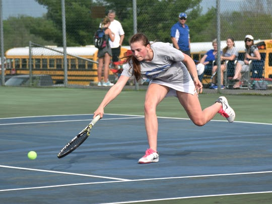 Fort Defiance senior Maya Simmons reached 100 victories in her tennis career Thursday. She is the first Fort player to do so in 25 years.