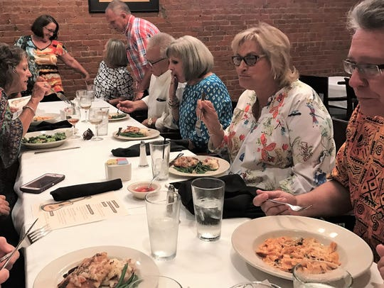 Abilene High School classmates enjoyed a meal and reliving