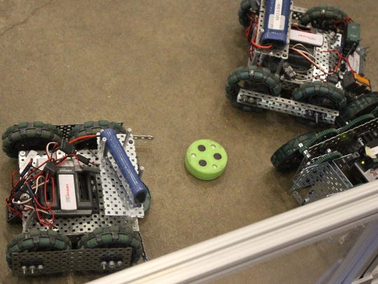 Robo Hockey is one of the many events participants