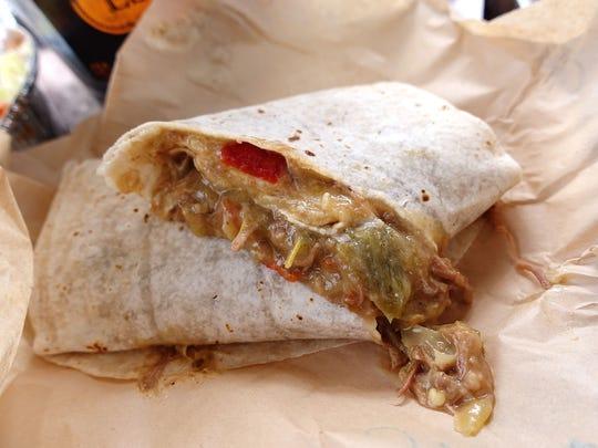 Green chile burrito at Espo's Mexican Food.