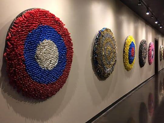 "Alex Lockwood, ""Targets,"" made from shotgun shells."