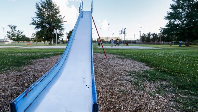 City leaders want to use a portion of the HUD grant funding to make improvements to the playground at Meador Park near Battlefield Mall.