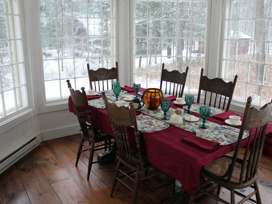 Crystal River Inn breakfasts are served in a window-rich room that overlooks nature and the historic village of Rural.