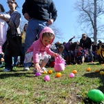 The City of Great Falls Easter Egg Hunt gets underway at Gibson Park in 2014.