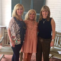 Janelle Snellings, Jane Smith-Green and Satchie Snellings Godfrey enjoy a birthday celebration get-together.