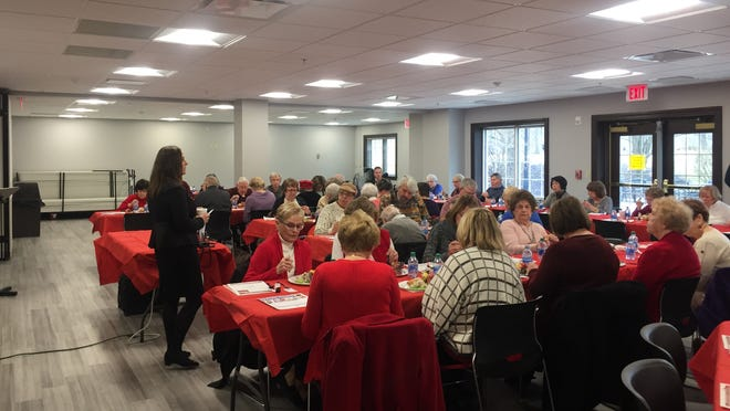 Hudson's Senior Advisory Committee typically hosts events and programs for senior citizens. This photo was taken at an event that happened earlier this year before the COVID-19 pandemic forced the cancellation of events starting in March.
