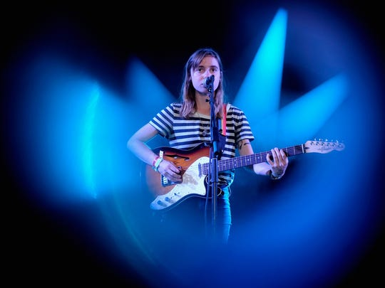 Julien Baker performs onstage during FYF Fest 2016 at  on Aug. 28, 2016, in Los Angeles.
